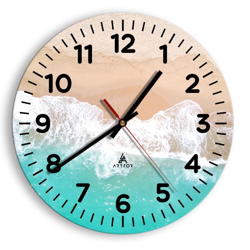 zegar na szkle Cyferblat C4
