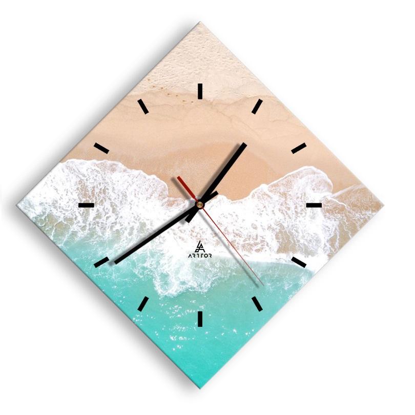 zegar na szkle Cyferblat AD